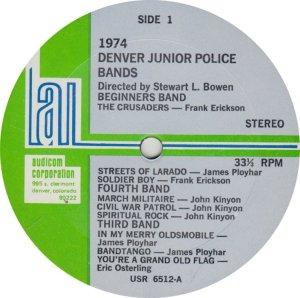 DENVER POLICE BAND - KAUD 6512