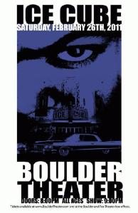 POSTER - BOULDER THEATER A5