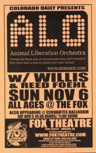 POSTER - FOX THEATER BOULDER 1