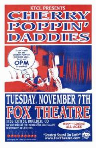 POSTER - FOX THEATER BOULDER 31
