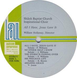 SHILOH BAPTIS - AUD 8282