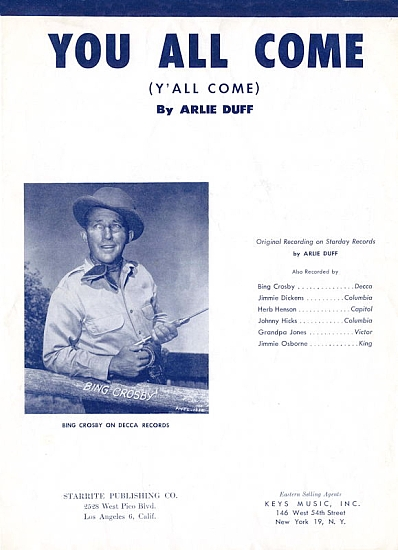 DUFF ARTIE 1953