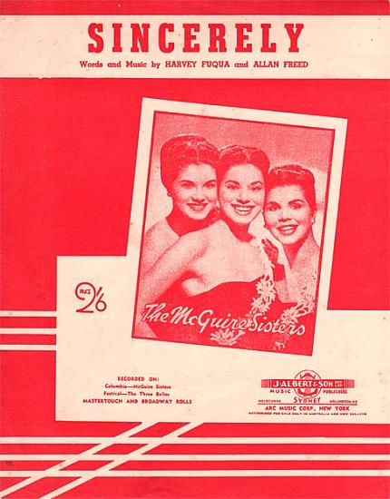 MCGUIRE SISTERS 1955