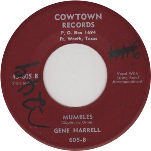 HARRELL GENE - COWTOWN 605 B