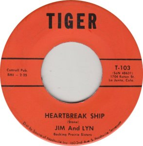 JIM & LYN - TIGER 103
