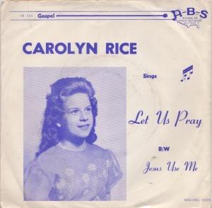 RICE CAROLYN 64A