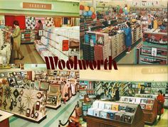 Woolworth Store Somewhere USA 1950's - Records!