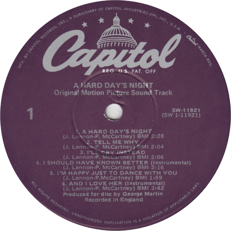 Capitol Records vs  United Artists and the Beatles