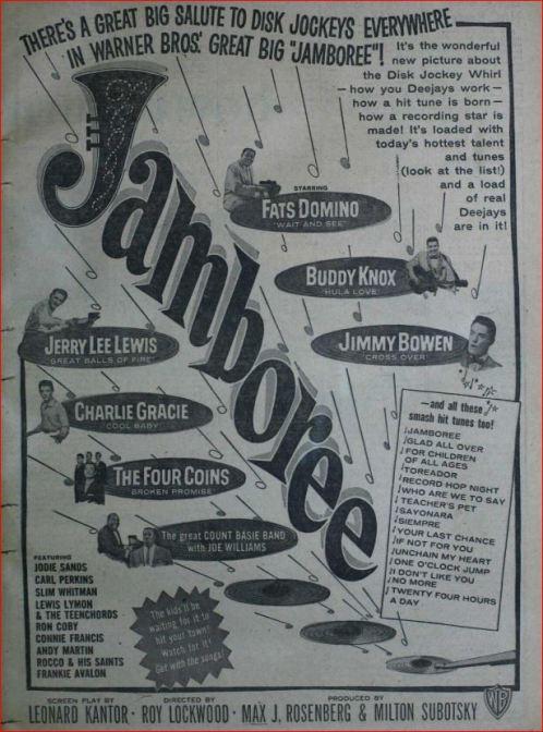Carl Perkins in 1957 movie Jamboree