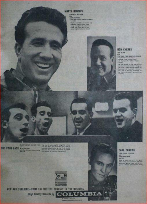 Carl Perkins Columbia Records